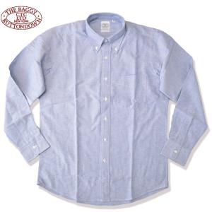 THE BAGGY[バギー] ヘビー オックスフォードシャツ ボタンダウンシャツHEAVY OXFORD B.D L/S SHIRTS BLUE ブルー b-e-shop