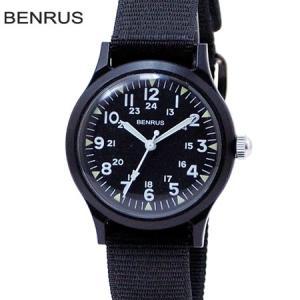 BENRUS ベンラス ミリタリーウォッチ 米軍 復刻モデル クォーツ BR763 BLACK ブラック プラスチックウォッチ b-e-shop