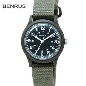 BENRUS ベンラス ミリタリーウォッチ 米軍 復刻モデル クォーツ BR763 OLIVE プラスチックウォッチ b-e-shop
