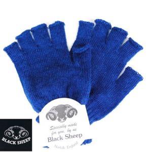 BLACK SHEEP ブラックシープ フィンガーレス ニットグローブ KNIT GLOVE 手袋 ウールニットグローブ CORVETTE ブルー メンズ b-e-shop