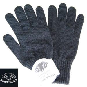 BLACK SHEEP ブラックシープ ニットグローブ KNIT GLOVE 手袋 ウールニットグローブ BLACK ブラック メンズ b-e-shop