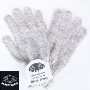 BLACK SHEEP ブラックシープ ニットグローブ KNIT GLOVE 手袋 ウールニットグローブ LT.GREY グレー メンズ b-e-shop