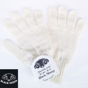 BLACK SHEEP ブラックシープ ニットグローブ KNIT GLOVE 手袋 ウールニットグローブ ナチュラルEric メンズ b-e-shop