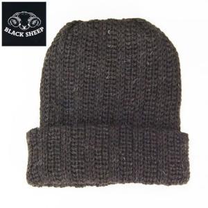 BlacK Sheep ブラックシープ 太編み ニットキャップ KNIT CAP ユニセックス  ワッチキャップ ブラウン b-e-shop