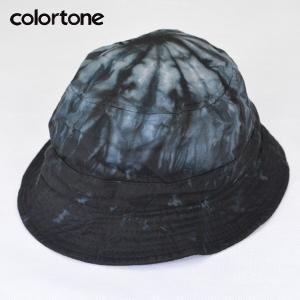 COLOR TONE カラートーン タイダイ バケット ハット TIE-DYE BUCKET HAT タイダイ染めハット BLACK ブラック|b-e-shop