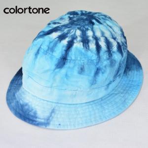 COLOR TONE カラートーン タイダイ バケット ハット TIE-DYE BUCKET HAT タイダイ染めハット BLUE ブルー|b-e-shop