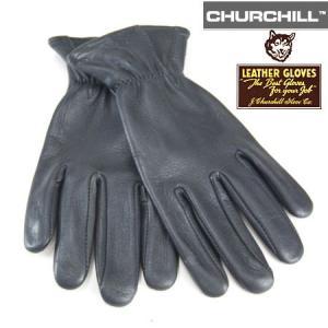JAMES CHURCHILL ジェームス チャーチル ディアスキン レザーグローブ DEERSKIN LEATHER GLOVE  鹿革手袋 ブラック b-e-shop