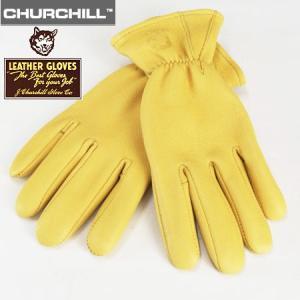 JAMES CHURCHILL ジェームス チャーチル ディアスキン レザーグローブ DEERSKIN LEATHER GLOVE  鹿革手袋 ゴールド b-e-shop