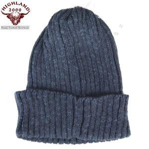 HIGHLAND2000 ハイランド2000 リネンコットン ワッチキャップ Watch Cap IRISH LINEN ブラック ニットキャップ ニット帽 ゆうパケット(速達ゆうメール)送料無料|b-e-shop