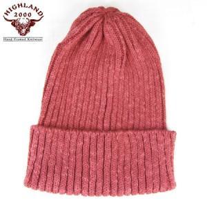 HIGHLAND2000 ハイランド2000 リネンコットン ワッチキャップ Watch Cap IRISH LINEN レッド ニットキャップ ニット帽 ゆうパケット(速達ゆうメール)送料無料|b-e-shop
