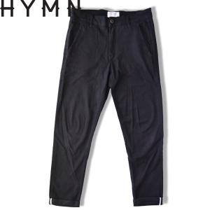 HYMN ヒム TURER Chino PANTS コットンチノパン BLACK ブラック セルビッチ ストレッチパンツ|b-e-shop