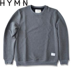 HYMN ヒム FLINT Herrinbone Knit ヘリンボーン スウェット チャコール CHARCOAL (送料無料)トレーナー|b-e-shop