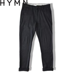 HYMN ヒム  NEVERN  Moleskin Pants ウール モールスキンパンツ BLACK ブラック ウールスリムパンツ|b-e-shop