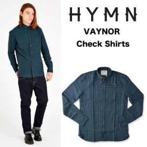 HYMN ヒム VAYNOR Check Shirts ボタンダウン チェックL/S シャツ グリーン ネイビー GREEN/NAVY(送料無料)|b-e-shop