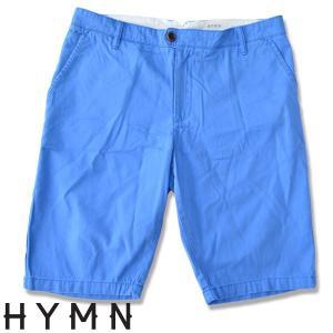 HYMN ヒム WHITLEY Cotton chino shorts コットンツチノショーツ BLUE ショートパンツ|b-e-shop