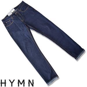 HYMN ヒム WATERGATE Denim mid indigo wash jeans セルビッチデニムパンツ インディゴジーンズ ストレートジーンズ|b-e-shop