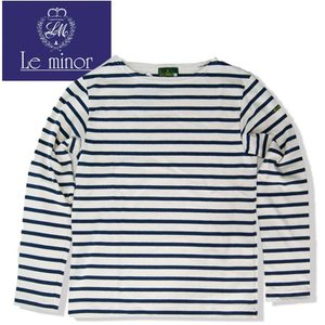 Le minor ルミノア ボーダー ボートネック カットソー バスクシャツ BORDER BOATNECK LEF131022 生成りXネイビー ECRUxMARINE b-e-shop