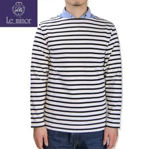 Le minor[ルミノア] ボートネック ボーダー カットソー バスクシャツ BOATNECK L/S CUTSAW ナチュラル/ブラック 04) ECRU/Noir b-e-shop