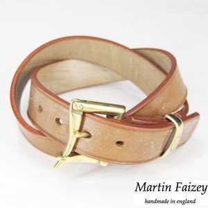 Martin Faizey マーティン フェイジー J&FJ Baker&Co Ltd Oak Bark Tanned Leather クイック リリース ベルト 1.25inch LONDON COLOUR|b-e-shop