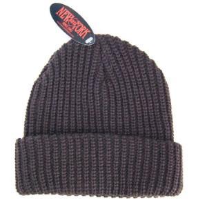 NEW YORK HATニューヨークハット CHUNKY CUFF ニットキャップ ニット帽 アメリカ製 BROWNブラウン|b-e-shop