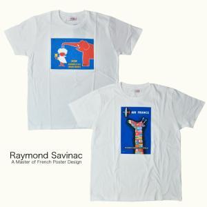 レイモン サヴィニャック Tシャツ Raymond Savignac プリントTシャツ AIR FR...