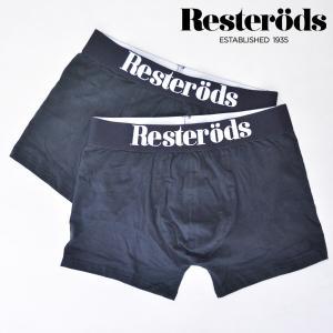 [レステロッズ]RESTERODS Gunnar 2PACK SOLID  2パック BLACK ボクサーパンツ ブラック BOXER PANTS b-e-shop