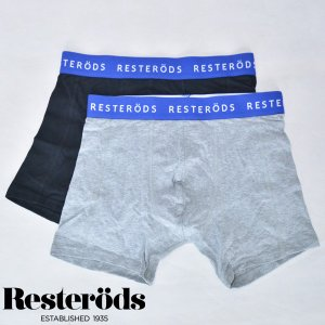 レステロッズ RESTERODS SVEN  2-pack 7961-49 GREY BLACK ボクサーパンツ 2パック グレー ブラック BOXER PANTS b-e-shop
