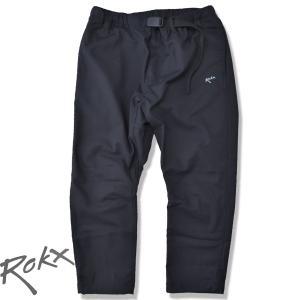ROKX[ロックス] ライトトレック クロップスパンツ LIGHT TREK CROPS  速乾ストレッチ クライミングパンツ BLACK ブラック 8部丈パンツ b-e-shop