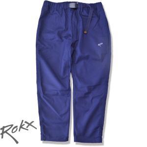 ROKX[ロックス] ライトトレック クロップスパンツ LIGHT TREK CROPS  速乾ストレッチ クライミングパンツ NAVY ネイビー 8部丈パンツ b-e-shop