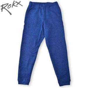 ROKX[ロックス] GOOSE PANT  グースパンツINDIGO インディゴ ニットフリース 裏起毛 テーパード スリムパンツ クライミングパンツ b-e-shop