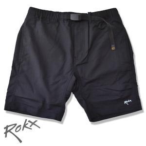 ROKX[ロックス] ライトトレックショーツ LIGHT TREK SHORT  速乾ストレッチ クライミングショートパンツ BLACK ブラック 送料無料 b-e-shop