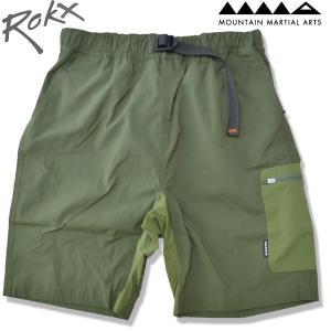 ROKX[ロックス] x Mountain Martial Arts[マウンテンマーシャルアーツ] MMA メッシュポケットクライミングショーツ MESH POCKET CLIMBING SHORT  OLIVE オリーブ b-e-shop