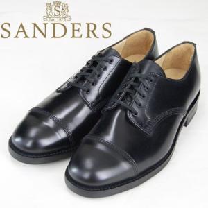SANDERS [サンダース] 8803 MILITARY  DERBY SHOES 8803 ミリタリー ダービー シューズ レザーシューズ ブラック|b-e-shop