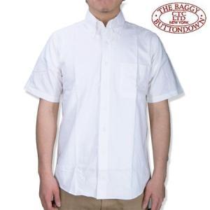 THE BAGGY バギー  半袖 オックスフォードシャツ ホワイト ボタンダウン 半袖シャツ メンズ OXFORD S/S SHIRTS WHITE b-e-shop