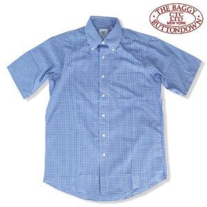 THE BAGGY バギー ギンガムチェック ブロードクロス ボタンダウン 半袖シャツ ザ バギー GINGHAM CHECK S/S SHIRTS ブルー b-e-shop