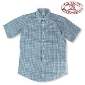 THE BAGGY バギー ギンガムチェック ブロードクロス ボタンダウン 半袖シャツ GINGHAM CHECK S/S SHIRTS  グリーン b-e-shop