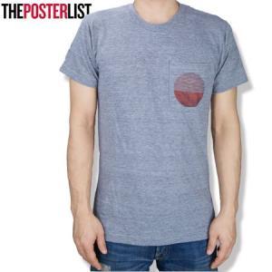 THE POSTERLIST ポスターリスト  Surf Circle Pocket Tee ポケットTシャツ ポケットTEE PT700 グレー|b-e-shop