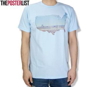 THE POSTERLIST ポスターリスト Empty Beach USA Tee クルーネックTシャツ クルーTEE PT778 ライトブルー|b-e-shop