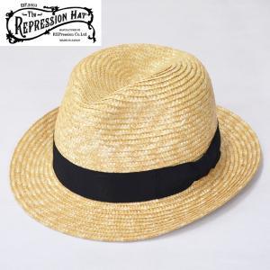 The REPRESSION HAT(ザ リプレッションハット) ストローハット 中折れハット/麦わら帽子 日本製 ナチュラル/STRAW HAT パナマハット|b-e-shop