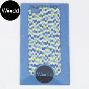 Wood'd ウッド アイフォーン カバースキンシール iPhone skins 5&5S ダミエ iPhone5/5s対応 DAMIER MULTICOLOR REALWOOD b-e-shop
