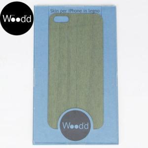 Wood'd ウッド アイフォーン カバースキンシール iPhone skins 5&5S グリーン iPhone5/5s対応 GREEN WOOD REALWOOD b-e-shop