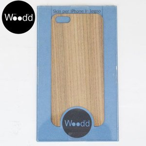 Wood'd ウッド アイフォーン カバースキンシール iPhone skins 5&5S TEAK チーク素材 iPhone5/5s対応  WOOD REALWOOD b-e-shop