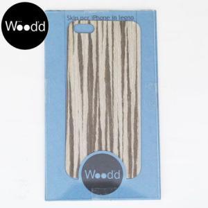 Wood'd ウッド アイフォーン カバースキンシール iPhone skins 5&5S ゼブラウッド iPhone5/5s対応 ZEBRA WOOD REALWOOD b-e-shop
