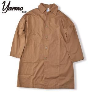 Yarmo[ヤーモ] CC41 ダスターコート DUSTER COAT BROWN ブラウン ドロップショルダーコート  Uneven Twill|b-e-shop