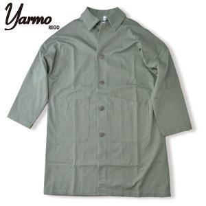 Yarmo[ヤーモ] CC41 ダスターコート DUSTER COAT OLIVE オリーブ ドロップショルダーコート  Uneven Twill|b-e-shop
