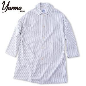 Yarmo[ヤーモ] CC41 コットンサージ ダスターコート DUSTER COAT Stripe ストライプ (送料無料)ワークコート|b-e-shop