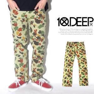迷彩パンツ メンズ テンディープ 10DEEP 迷彩パンツ 21TD1007 メンズ