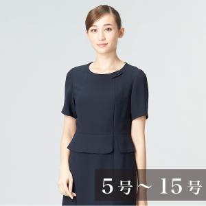 お受験スーツ レディース 大きいサイズ 面接 授乳対応ぺプラムデザインお受験ワンピース