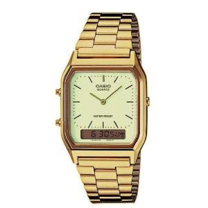<送料無料>カシオ ANA-DIGI アナデジ ゴールド CASIO AQ-230GA-9 メンズ 腕時計 b-house