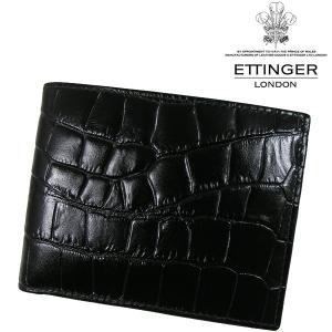 送料無料 エッティンガー/ETTINGER 二つ折り財布 メンズ 小銭入れ CC141J-EBONY|b-house